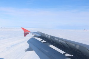 Runway made of ice