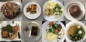 A montage of meals